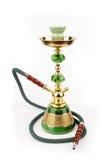 Verde e narghilé dell'oro, Shisha Immagine Stock