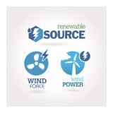Verde - ecología - sistema del icono del poder Foto de archivo libre de regalías