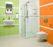 Verde ed arancio fotografie stock