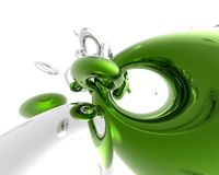 Verde ed argento Fotografia Stock