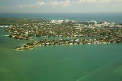 Linea costiera della città di Miami Fotografia Stock Libera da Diritti