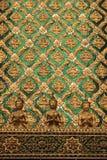 Verde ed oro Buddha Fotografie Stock