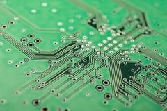 Verde elettrico del circuito, fondo fotografia stock