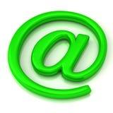 Verde EN el icono 3d del símbolo Fotos de archivo libres de regalías