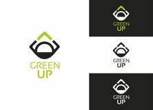 Verde ENCIMA de la insignia Imagen de archivo libre de regalías