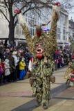 Verde enorme del Mummer della maschera Immagine Stock Libera da Diritti