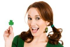 Verde: Entusiasmado sobre o dia de St Patrick Imagem de Stock Royalty Free