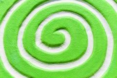 Verde espiral branco Vista superior e fim acima Fotos de Stock