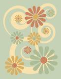 Verde floral do fundo ilustração stock