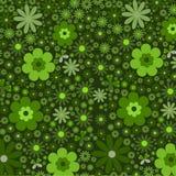 Verde floreale astratto della priorità bassa Immagini Stock