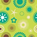 Verde floreale astratto senza cuciture del reticolo Fotografie Stock Libere da Diritti