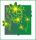 Verde Flower2 Imágenes de archivo libres de regalías