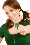 Verde: Foco no trevo Fotos de Stock Royalty Free