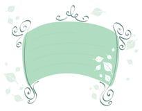 Verde-frame-com-deixa Fotografia de Stock