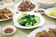 Verde fritado mexendo, cantonese Imagens de Stock Royalty Free