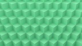 Verde geométrico do sumário do projeto do cubo do fundo imagem de stock