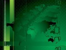 Verde globale della priorità bassa Immagini Stock