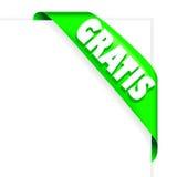 Verde grátis da fita Fotos de Stock