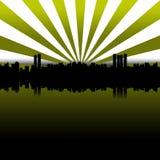 Verde grande de la ciudad Foto de archivo libre de regalías