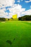 Verde hermoso del golf Fotografía de archivo