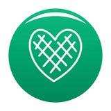Verde impressionabile di vettore dell'icona del cuore illustrazione di stock