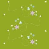 Verde inconsútil de la flor del modelo Fotografía de archivo libre de regalías