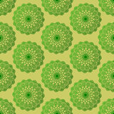 Verde inconsútil de la mandala del modelo Imagen de archivo