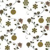 Verde inconsútil del modelo de la flor Fotografía de archivo libre de regalías