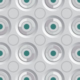 Verde infinito da prata da quadriculação Fotografia de Stock