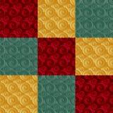 Verde infinito do ouro da quadriculação Imagens de Stock