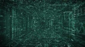 Verde Introducción de HUD del ciberespacio de Techno Túnel del ciberespacio libre illustration