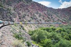Verde jaru linia kolejowa Zdjęcia Royalty Free