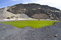 verde lanzarote lago Стоковое Изображение RF