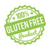 Verde LIBRE del sello de goma del producto del gluten en un fondo blanco stock de ilustración