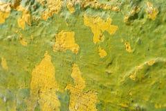 Verde-lima e parede textured amarelo Imagem de Stock