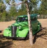 Verde lima restaurado obra clásica Chevrolet Fotografía de archivo