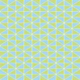 Verde-lima tirado mão e projeto geométrico azul do mosaico com textura da garatuja Teste padrão sem emenda do vetor com verão org ilustração stock