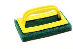 Verde luminoso scozzese di colore per pulizia Fotografia Stock