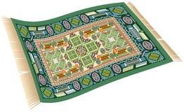 Verde magico del tappeto Fotografie Stock Libere da Diritti