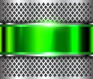 Verde metálico de la plata del fondo stock de ilustración