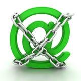 Verde metálico EN los encadenamientos del símbolo Imagenes de archivo