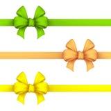 Verde, narciso amarelo e curvas amarelas do presente ilustração do vetor