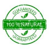 Verde natural garantido da borracha do selo Fotos de Stock Royalty Free