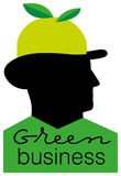 Verde-negócio ilustração royalty free