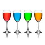 Verde no wineglass Foto de Stock