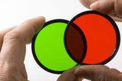 Verde o colore rosso Fotografia Stock Libera da Diritti