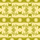 Verde verde oliva del modelo compuesto inconsútil y colores amarillos mudos ilustración del vector