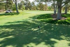 Verde ombreggiato di pratica nel deserto Immagine Stock