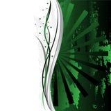 Verde ornamentado bonito do fundo Ilustração do Vetor