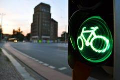 verde per i ciclisti Immagini Stock